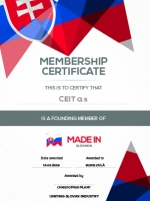 CEIT awarded the Founding Partner membership certificate
